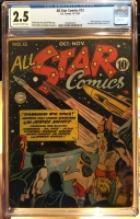 All Star Comics #13 CGC 2.5 ow/w