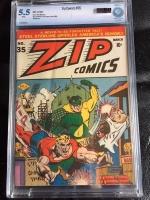 Zip Comics #35 CBCS 5.5 w