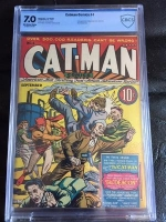 Catman Comics #4 CBCS 7.0 ow/w