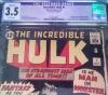 Incredible Hulk #1 CGC 3.5 n/a