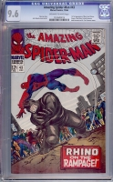 Amazing Spider-Man #43 CGC 9.6 ow/w