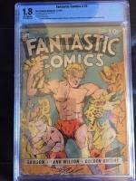 Fantastic Comics #15 CBCS 1.8 ow