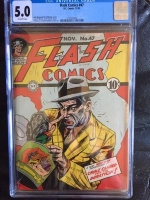 Flash Comics #47 CGC 5.0 ow