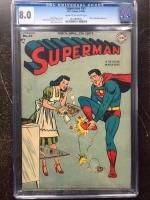 Superman #51 CGC 8.0 cr/ow