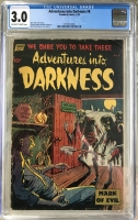 Adventures into Darkness #8 CGC 3.0 ow/w