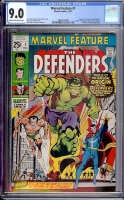 Marvel Feature #1 CGC 9.0 cr/ow