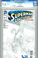 Superman Unchained #2 CGC 9.8 w Sketch Cover