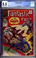 Fantastic Four #62 CGC 5.5 ow/w