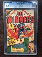 All Winners Comics #21 CGC 6.0 ow
