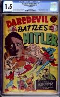 Daredevil Battles Hitler #1 CGC 1.5 cr/ow
