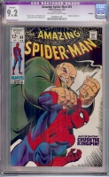 Amazing Spider-Man #69 CGC 9.2 ow/w