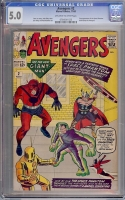 Avengers #2 CGC 5.0 ow/w