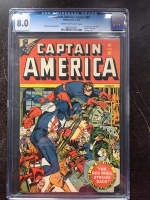 Captain America Comics #61 CGC 8.0 cr/ow