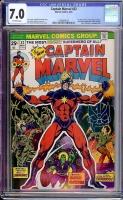 Captain Marvel #32 CGC 7.0 ow