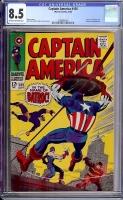 Captain America #105 CGC 8.5 ow/w