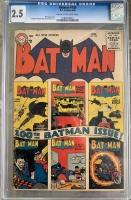 Batman #100 CGC 2.5 cr/ow