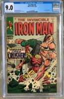 Iron Man #6 CGC 9.0 ow/w