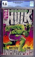 Incredible Hulk Annual #1 CGC 9.6 ow/w