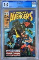 Avengers #69 CGC 9.0 ow/w