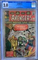 Avengers #1 CGC 2.0 ow/w