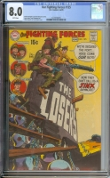 Our Fighting Forces #125 CGC 8.0 w