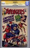 Avengers Golden Record Reprint #4 CGC 9.4 w CGC Signature SERIES