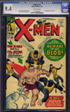 X-Men #3 CGC 9.4 ow/w Massachusetts