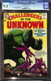 Challengers of the Unknown #38 CGC 9.6 ow Newsstand Collection